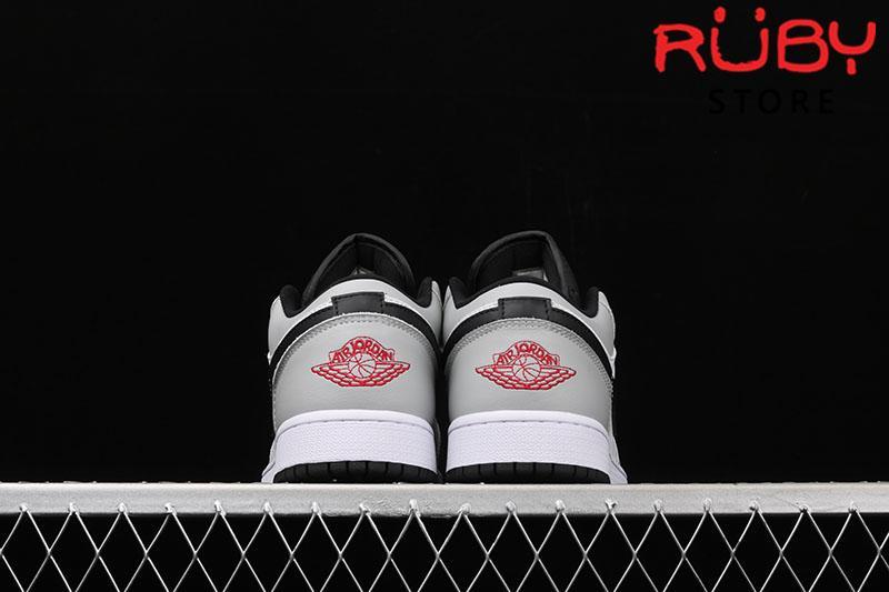 Giày Jordan 1 Low Light Smoke Grey Xám Đỏ