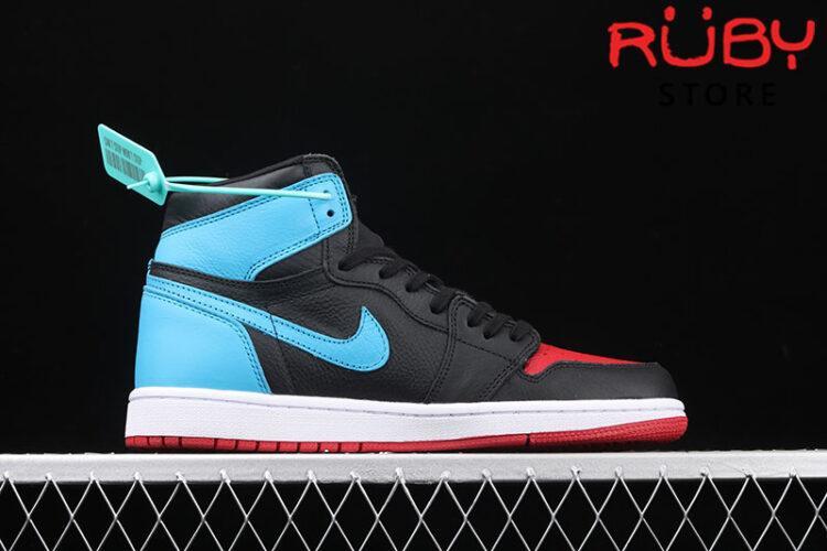 Giày Jordan 1 Retro High NC to Chi Leather Xanh Đen Đỏ