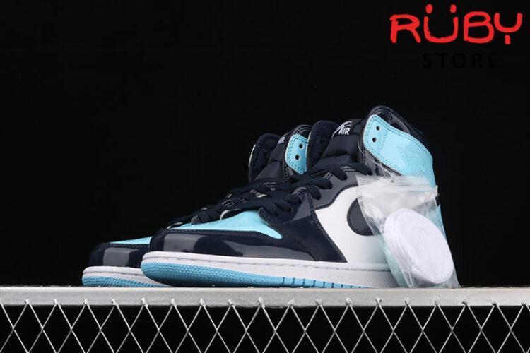 Giày Jordan 1 Retro High UNC Patent Xanh Trắng