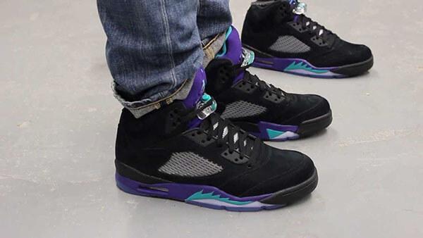 Giày Air Jordan 5 Black Grape