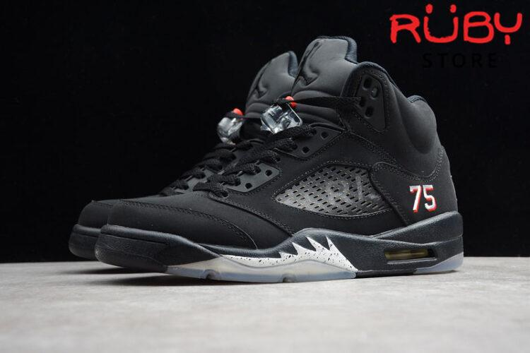 Giày Jordan 5 Retro Paris Saint-Germain Đen replica 1:1