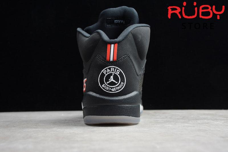 Giày Jordan 5 Retro Paris Saint-Germain Đen replica 1:1