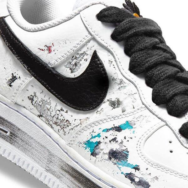 Lớp sơn bóc ra để lộ tác phẩm nghệ thuật trên giày AF1 G-Dragon