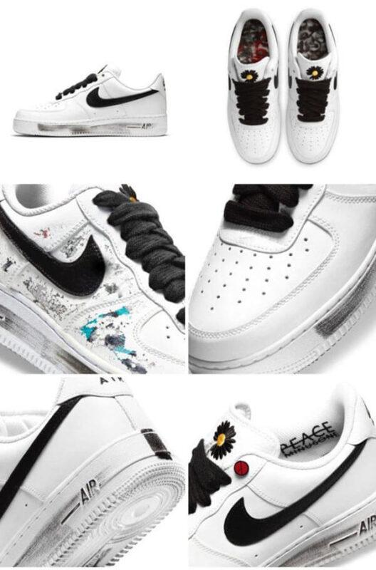 Tổng thể đôi giày Peaceminusone x Air Force 1 Paranoise 2.0