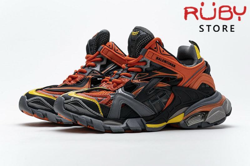 Giày Balenciaga Track 2.0 Cam Đen Vàng Replica 1:1 (Siêu Cấp)
