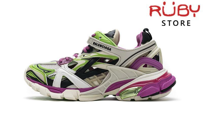 Giày Balenciaga Track 2.0 Trắng Xanh Hồng Replica 1:1 (Siêu Cấp)