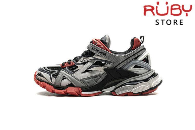 Giày Balenciaga Track 2.0 Xám Đen Đỏ Replica 1:1 (Siêu Cấp)
