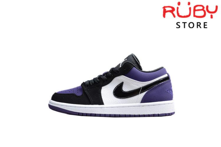 Giày Jordan 1 Low Court Purple Đen Tím