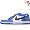 Giày Jordan 1 Low Hyper Royal Orange Peel Xanh Cam