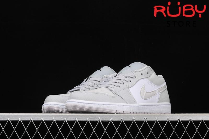 Giày Air Jordan 1 Low White Camo Trắng Xám