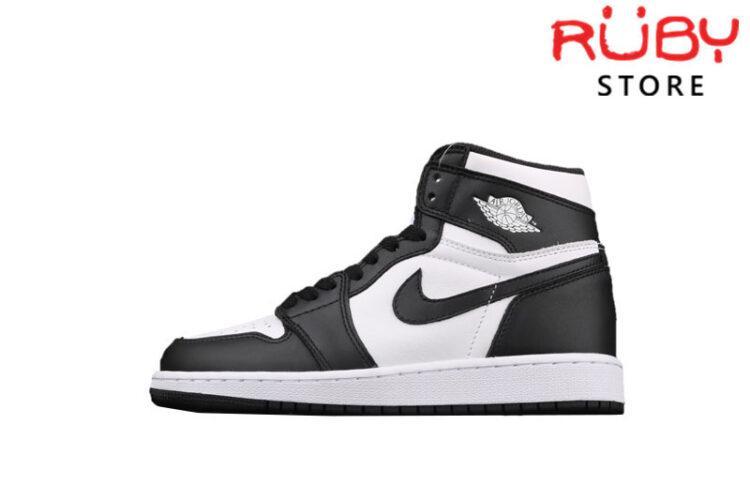 Giày Jordan 1 Retro Black White Đen Trắng