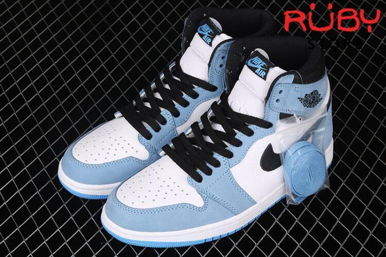 Giày Jordan 1 Retro High White University Blue Black Xanh Trắng Đen