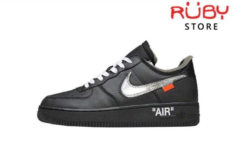 Giày Air Force 1 Low Off-White Black White Đen