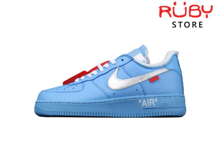 Giày Air Force 1 Low Off-White MCA University Blue Xanh