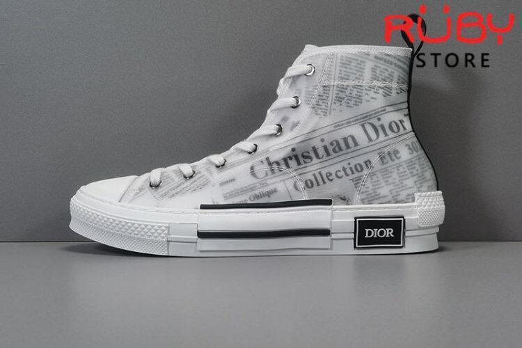 Giày Dior B23 High Top Daniel Asham Newspaper Replica 1:1