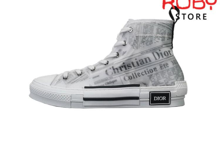 Giày Dior B23 High Top Daniel Asham Newspaper Replica 1:1
