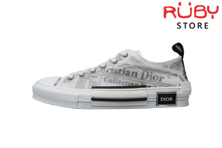 Giày Dior B23 Low Top Daniel Asham Newspaper replica 1:1