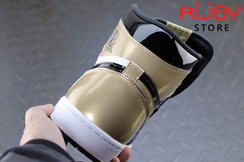 Giày Jordan 1 High NRG Patent Gold Toe Đen Vàng