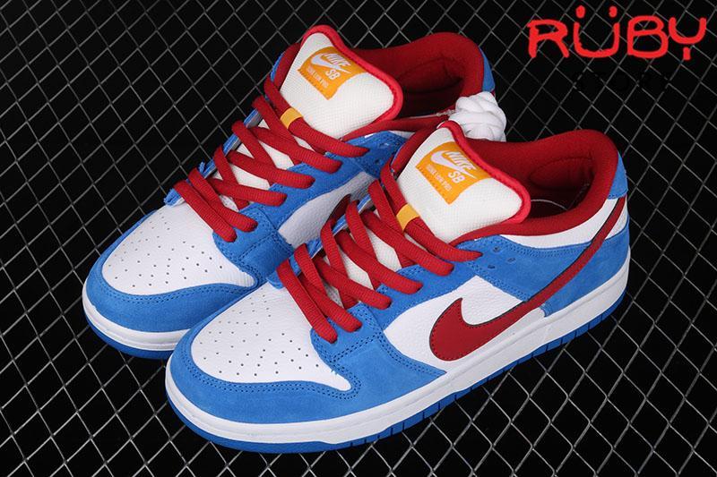 Giày Nike SB Dunk Low Doreamon Xanh Đỏ
