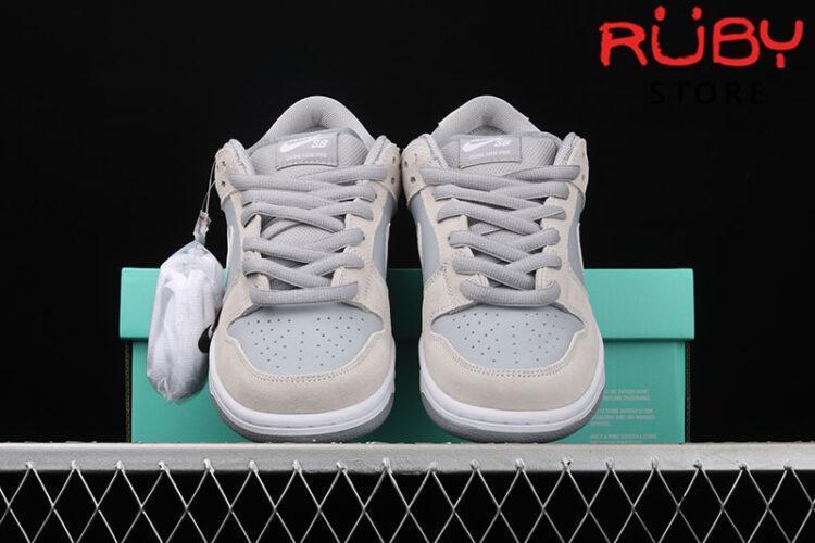 Giày Nike SB Dunk Low Summit White Wolf Grey Xám Trắng
