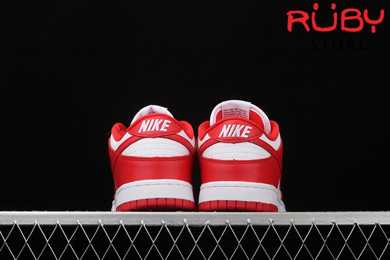 Giày Nike SB Dunk Low University Red Trắng Đỏ