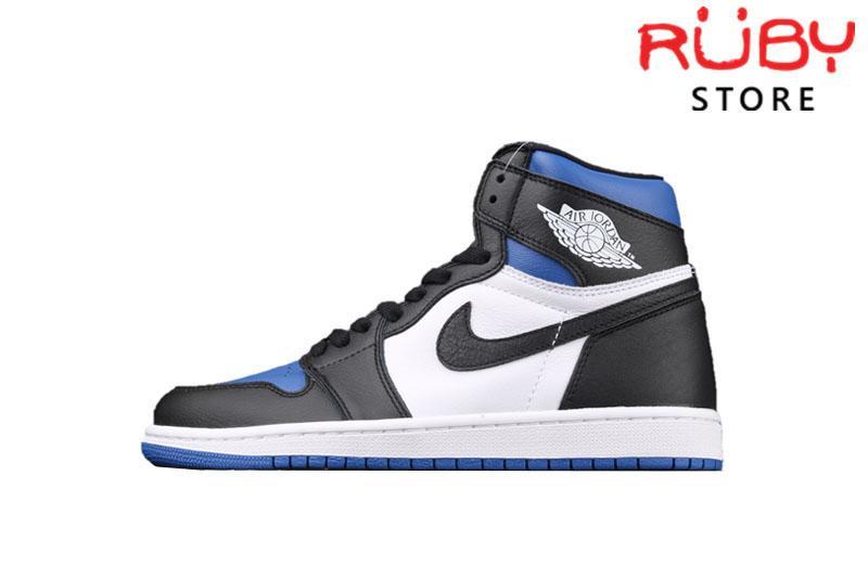 Giày Jordan 1 High Black Royal Toe Đen Xanh