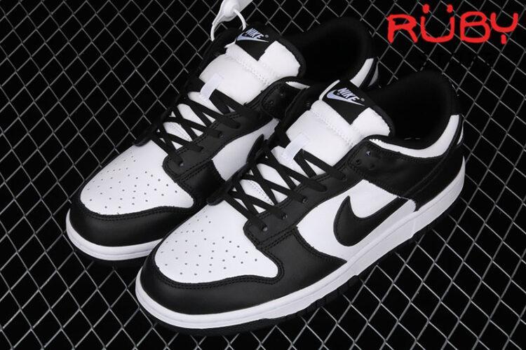 Giày Nike Dunk Low Retro White Black (2021) Trắng Đen