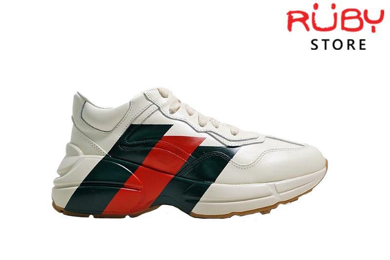Giày Gucci Rhyton Web Print Leather Sneaker Replica 1:1 Cao Cấp