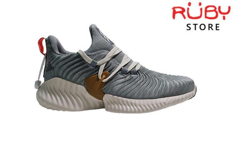 Giày Adidas Alphabounce Instinct Xám Vàng