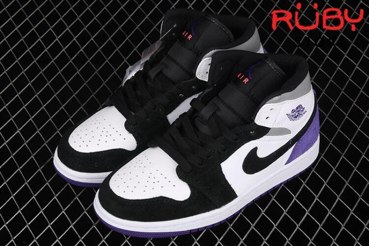 Giày Jordan 1 Mid SE Purple Đen Tím
