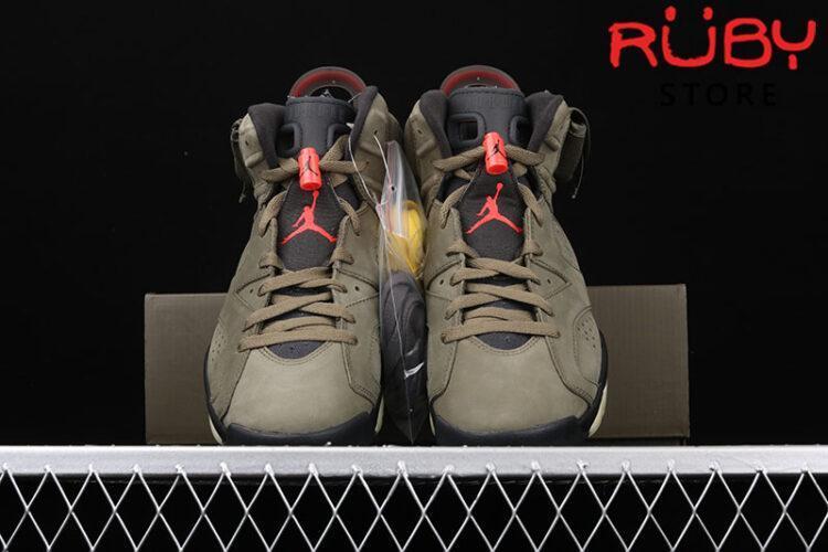 Giày Jordan 6 Retro Travis Scott Nâu
