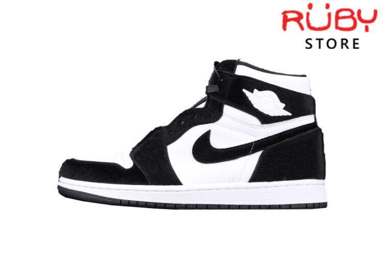 Giày Jordan 1 High Twist Đen Trắng Lông Xù