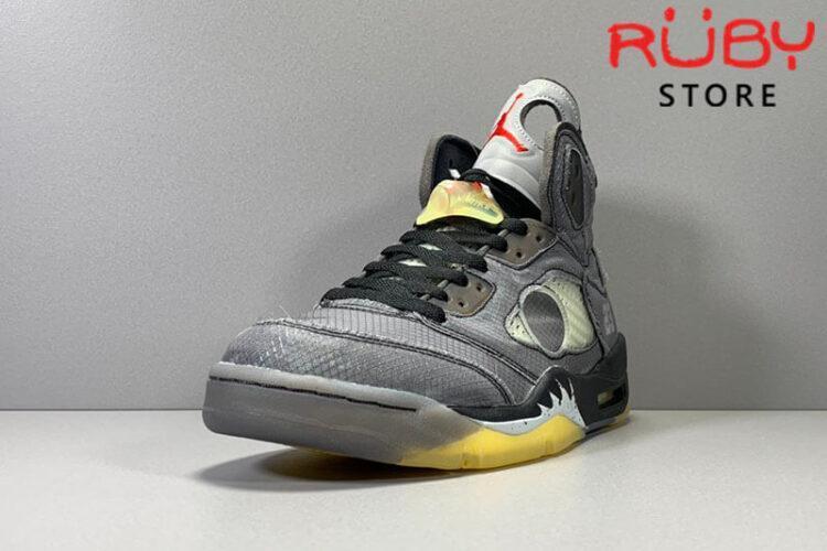 Giày Jordan 5 Retro Off-White Black Đen Vàng