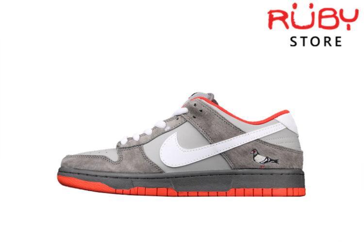 Giày Nike Dunk Low Pigeon Xám Cam