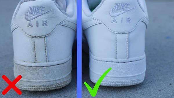 Làm gì nếu Nike Air Force One chuyển sang màu vàng?