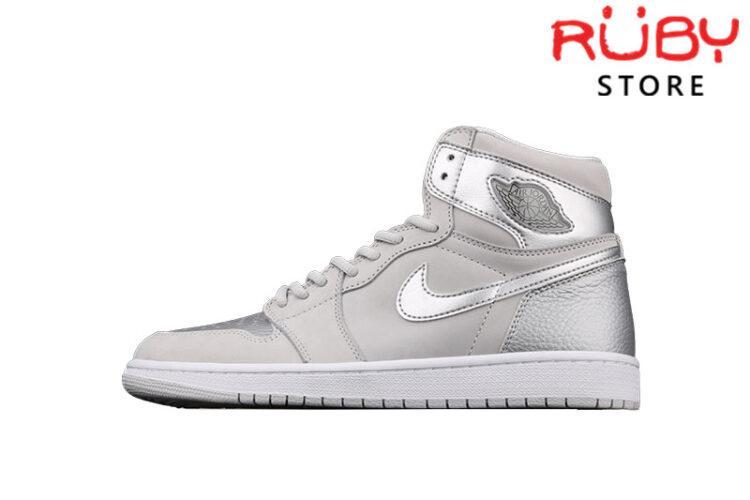 Giày Jordan 1 Retro Silver Anniversary Bạc Xám