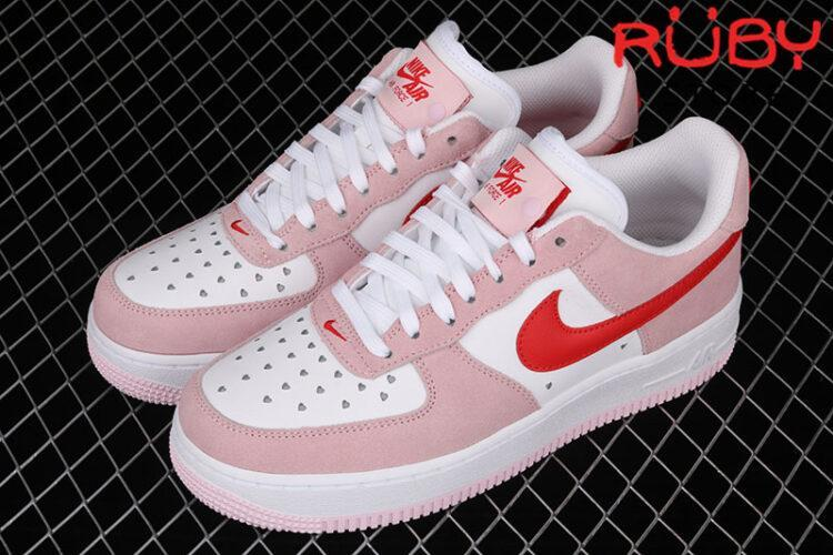 Giày Air Force 1 Low Love Letter Hồng Đỏ