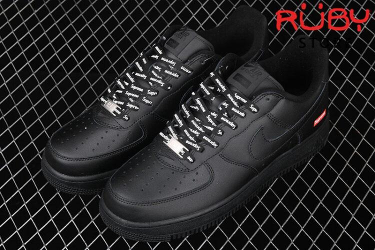 Giày Nike Air Force 1 Low Supreme Black Đen
