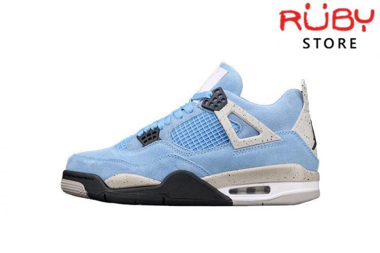 Giày Air Jordan 4 University Blue Xanh Xám
