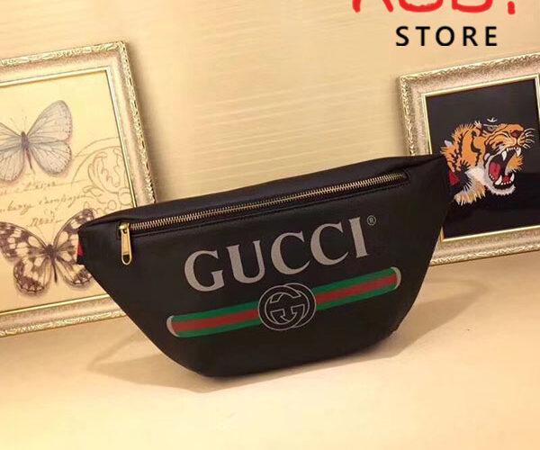 Túi Gucci Print Belt Bag Vintage Logo Medium
