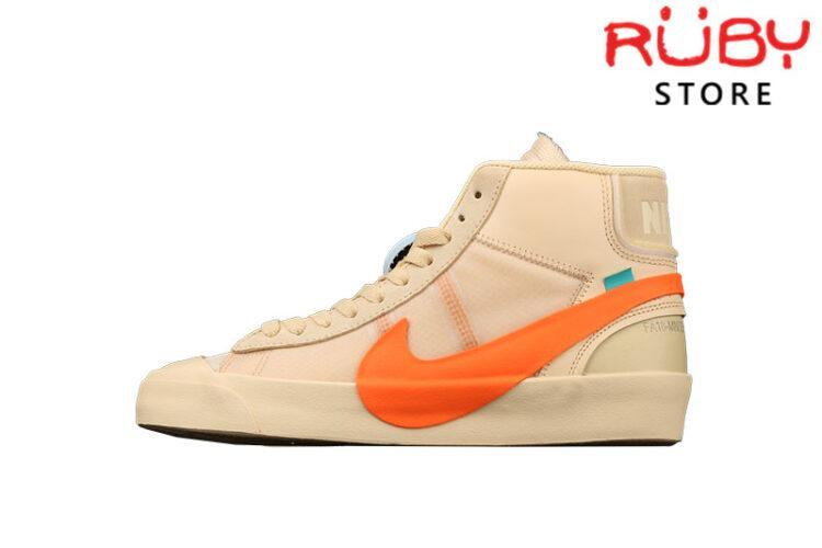 Giày Nike Blazer Mid Off-White All Hallow's Eve Vàng Cam