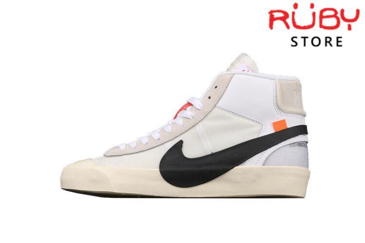 Giày Nike Blazer Mid Off-White Trắng