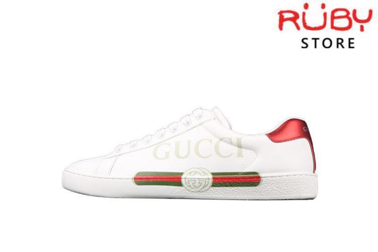 Giày Gucci Ace Logo Ngang Replica 1:1 Cao Cấp