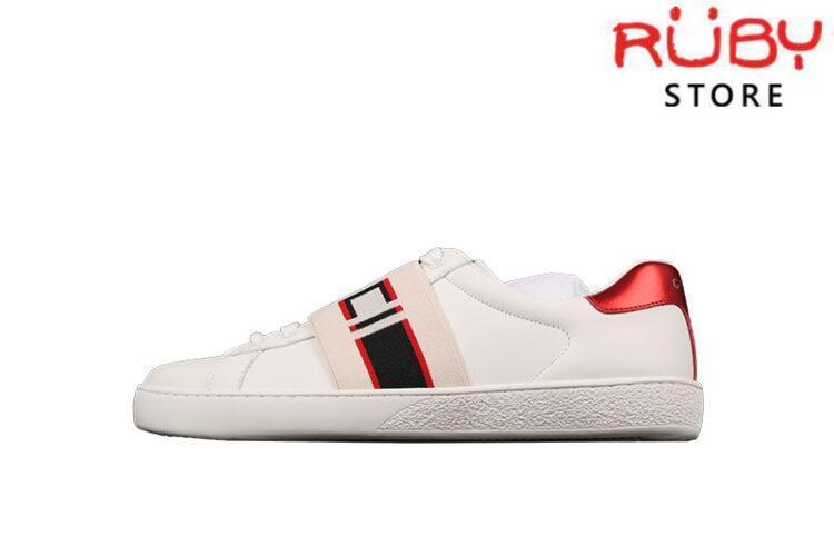 Giày Gucci Ace Stripe Ivory Replica 1:1 Cao Cấp
