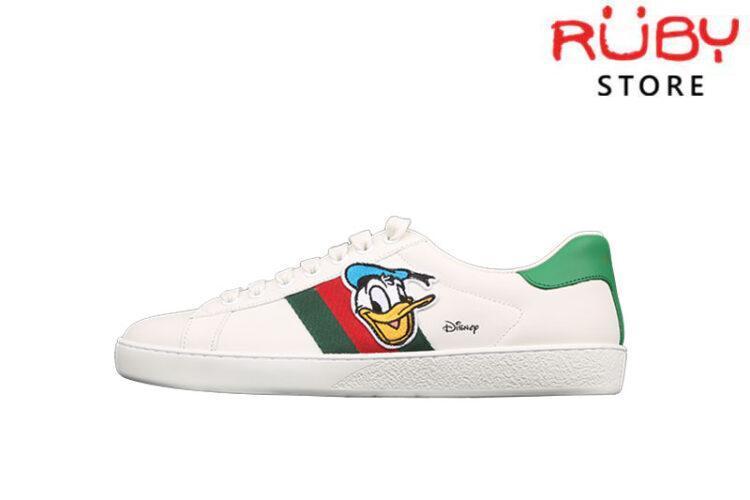 Giày Disney Vịt Donald x Gucci Ace Replica 1:1 Cao Cấp