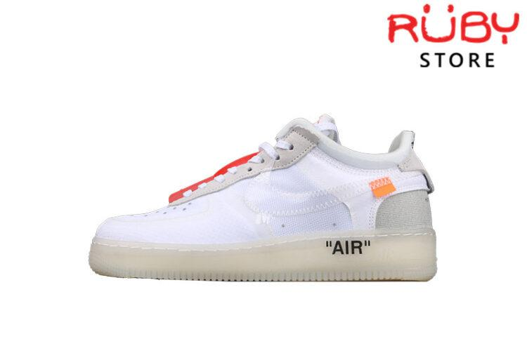 Giày Air Force 1 Low Off-White Trắng