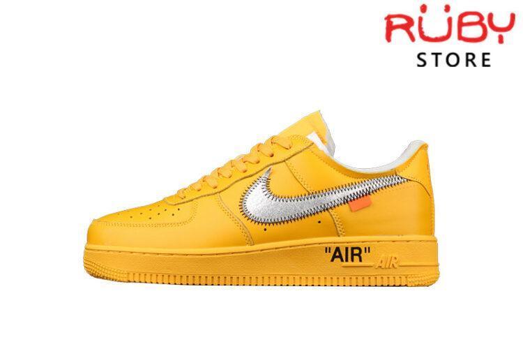 Giày Air Force 1 Low Off-White Gold Metallic Vàng