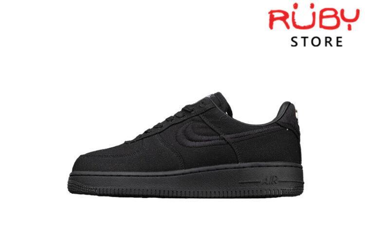 Giày Nike Air Force 1 Low Stussy Black Đen