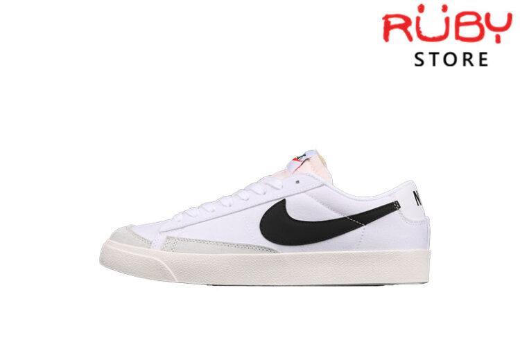 Giày Nike Blazer Low 77 Vintage White Black Trắng Đen