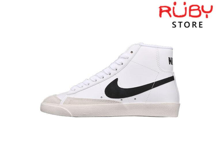 Giày Nike Blazer Mid 77 Vintage White Black Trắng Đen